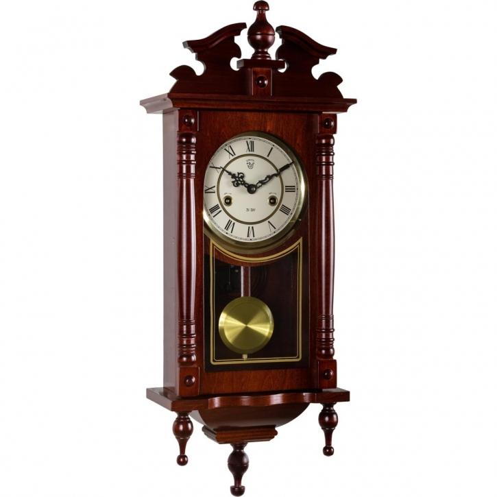 Horloge Murale Mecanique Orphee Pendule Antique Acajou 40020004