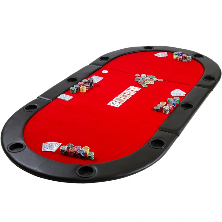 Table de poker pliante à poser Deluxe avec sac de ...