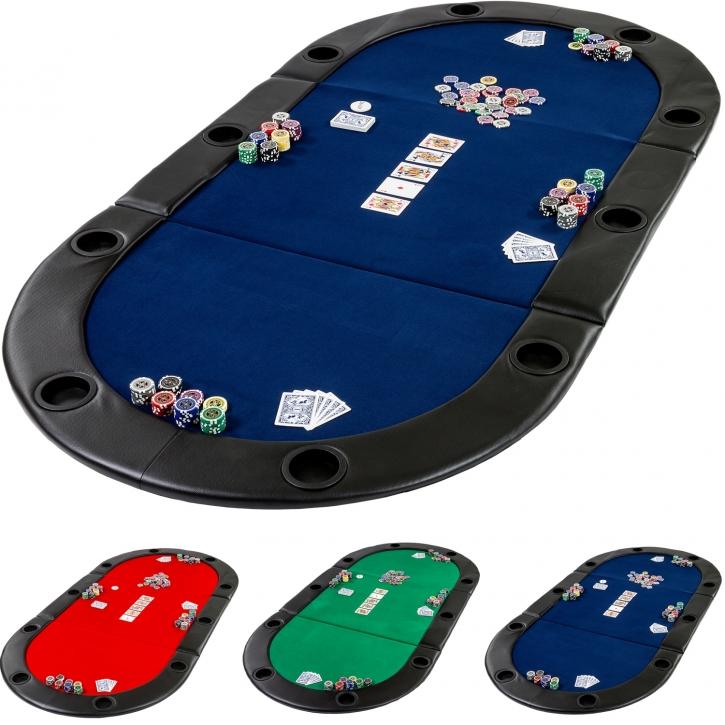 Table de poker pliante à poser Deluxe avec sac de transport, 208 x ...