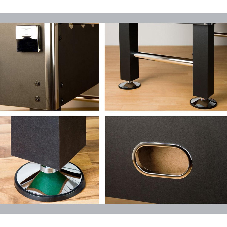"""miniature 4 - Tuniro Baby-Foot \""""Leeds\"""", couleur au choix, L 140 x l 73 x H 87 cm, inclus 4 b"""
