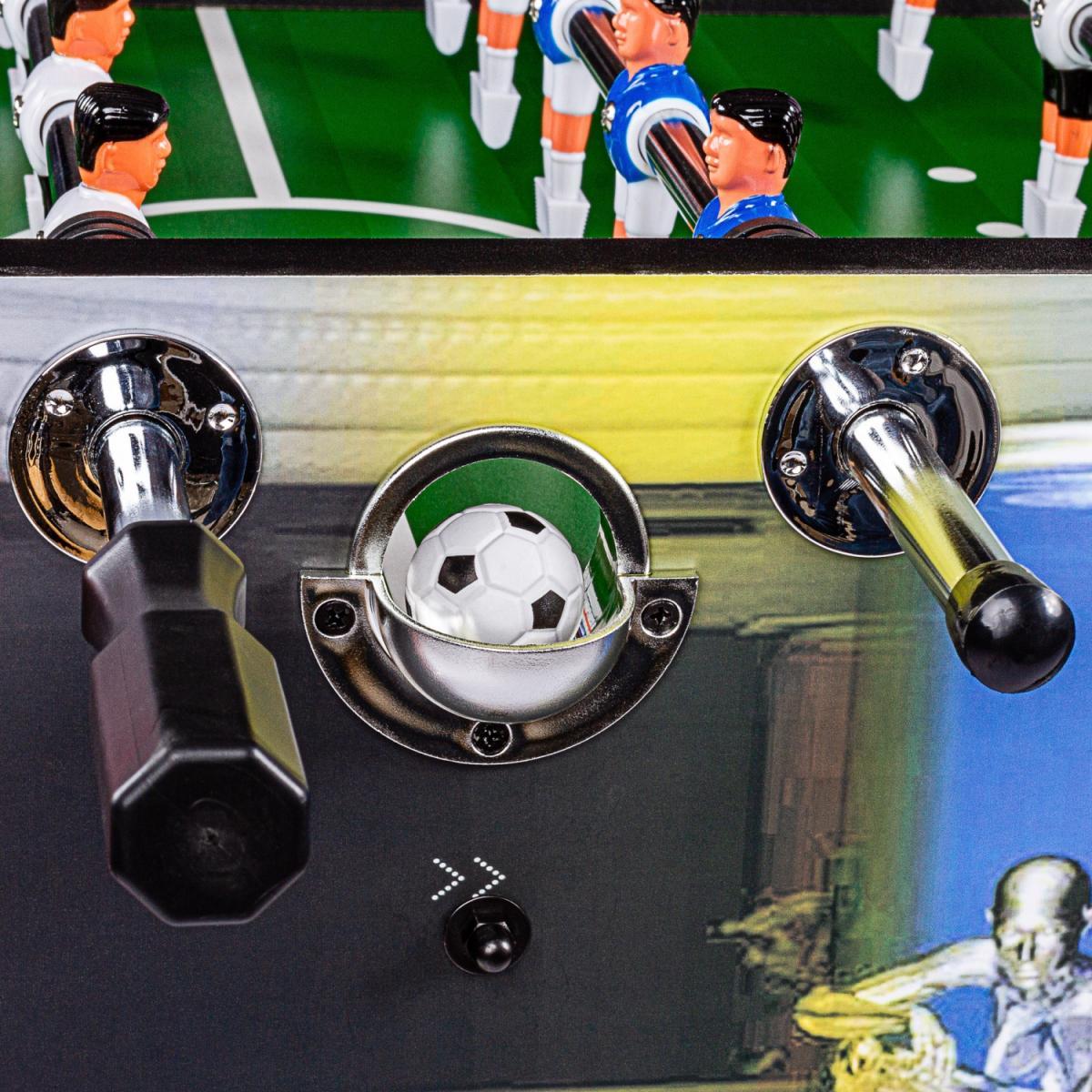 """miniature 37 - Tuniro Baby-Foot \""""Leeds\"""", couleur au choix, L 140 x l 73 x H 87 cm, inclus 4 b"""